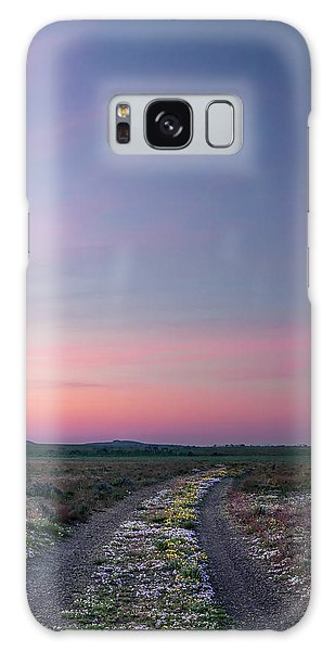 A Sunrise Path Galaxy Case by Leland D Howard