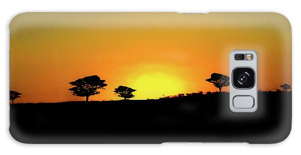 A Sunset In Namibia Galaxy Case by Ernie Echols