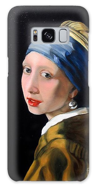 Girl With A Pearl Earring Galaxy Case - A Tribute To Vermeer - Girl With A Pearl Earring by Aparna Patil