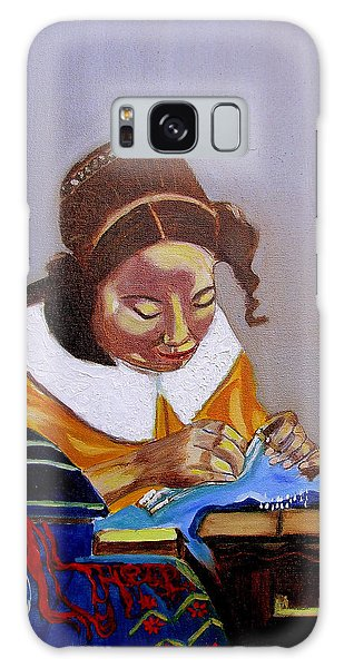A Tribute To Vermeer  The Lacemaker Galaxy Case