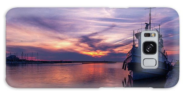 A Tugboat Sunset Galaxy Case