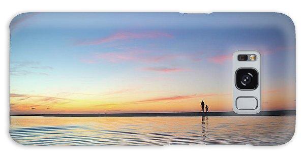 A Twilight Beach Walk Galaxy Case