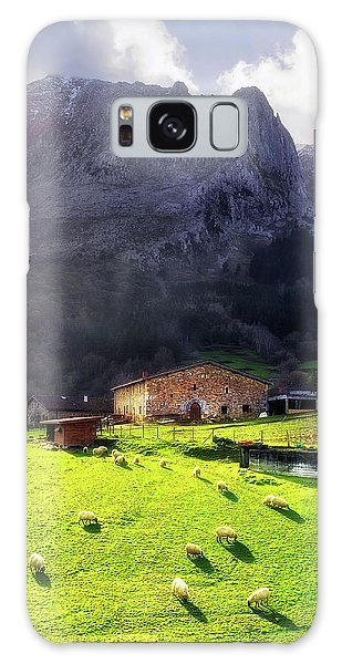 A Typical Basque Country Farmhouse With Sheep Galaxy Case