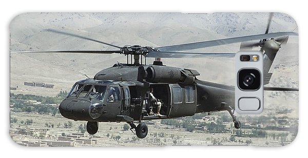Galaxy Case featuring the photograph A Uh-60 Blackhawk Helicopter by Stocktrek Images