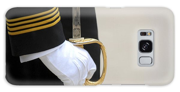 Galaxy Case featuring the photograph A U.s. Naval Academy Midshipman Stands by Stocktrek Images