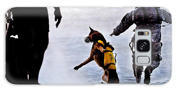 Galaxy Case featuring the photograph A U.s. Soldier And His Military Working by Stocktrek Images
