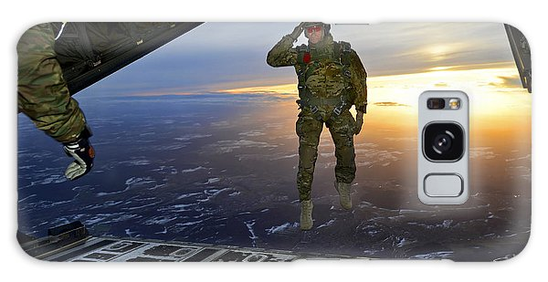 Galaxy Case featuring the photograph A U.s. Soldier Salutes His Fellow by Stocktrek Images