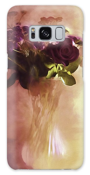 A Vase Of Flowers Touched By The Morning Sun Galaxy Case by Diane Schuster