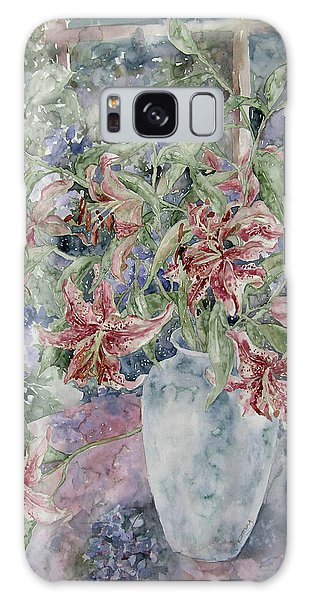 A Vase Of Lilies Galaxy Case