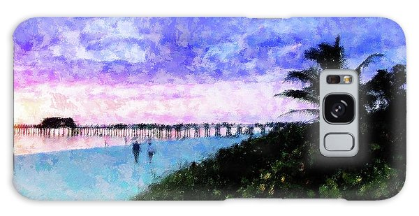A View At Naples Pier Galaxy Case