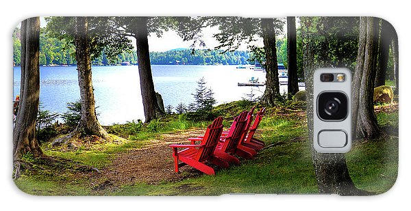 Galaxy Case featuring the photograph A View Of Big Moose Lake by David Patterson