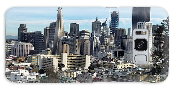 A View Of Downtown From Nob Hill Galaxy Case by Steven Spak