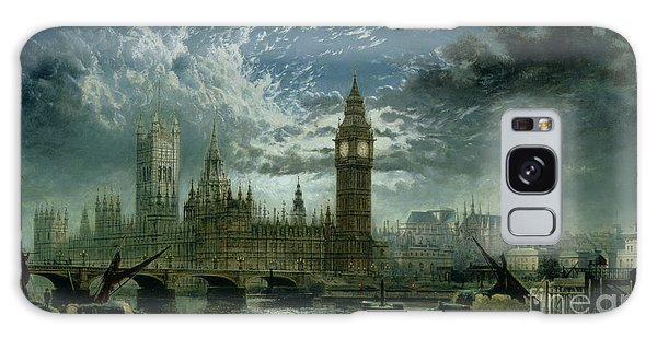 A View Of Westminster Abbey And The Houses Of Parliament Galaxy Case