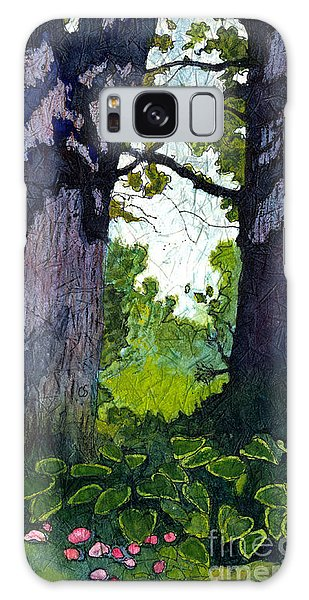 A View Through The Trees Watercolor Batik Galaxy Case