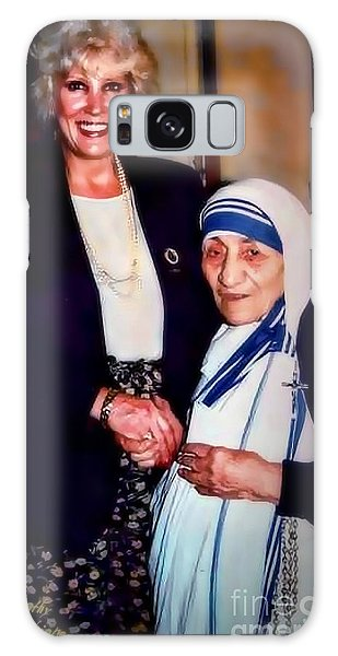 A Vist With Mother Teresa Galaxy Case