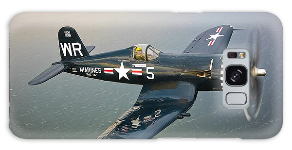 Galaxy Case featuring the photograph A Vought F4u-5 Corsair In Flight by Scott Germain