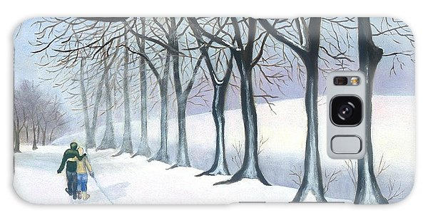 A Walk In The Snow Galaxy Case
