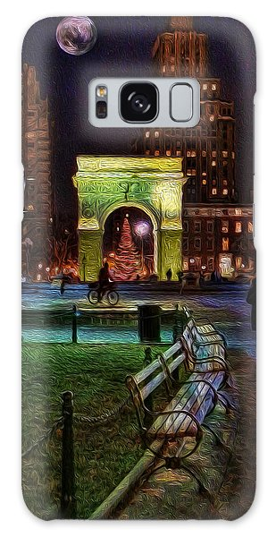 A Walk In Washington Square Galaxy Case