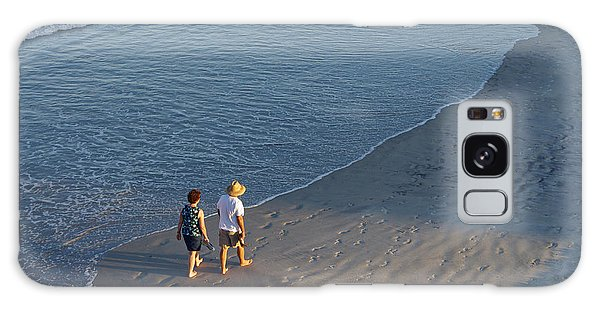 A Walk On The Beach Galaxy Case
