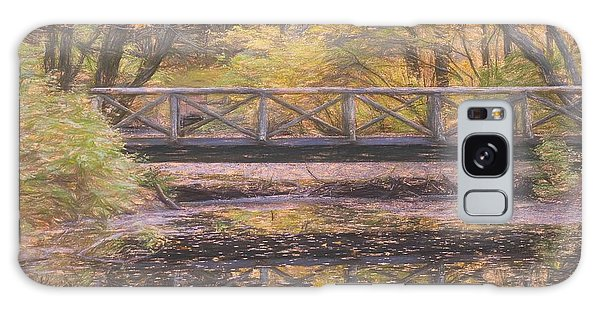 A Walking Bridge Reflection On Peaceful Flowing Water. Galaxy Case