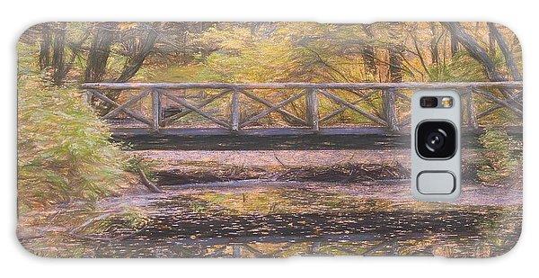A Walking Bridge Reflection On Peaceful Flowing Water. Galaxy Case