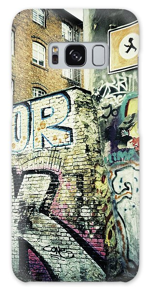 A Wall Of Berlin With Graffiti Galaxy Case