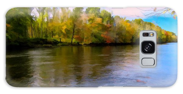 A Wide Scenic View Of Shetucket River. Galaxy Case