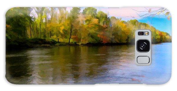 A Wide Scenic View Of Shetucket River. Galaxy Case