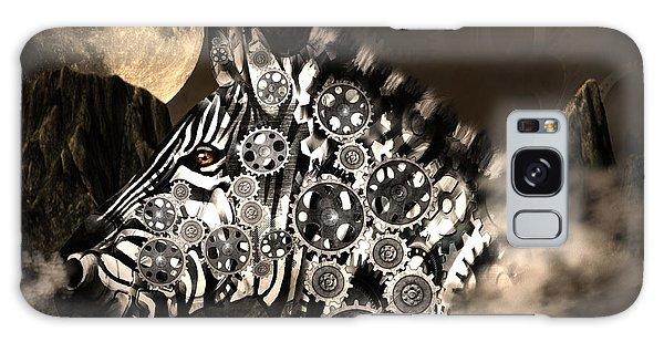 A Wild Steampunk Zebra Galaxy Case