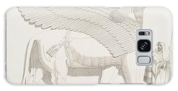 Decorative Galaxy Case - A Winged Human-headed Lion From Nimroud by Austen Henry Layard