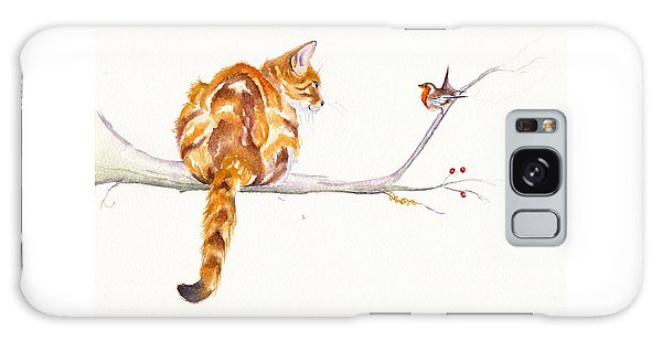 Cats Galaxy Case - A Winter Meeting by Debra Hall
