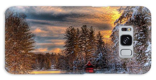 A Winter Sunset Galaxy Case