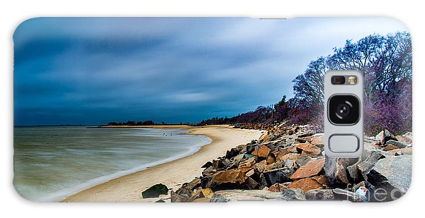 A Winter's Beach Galaxy Case