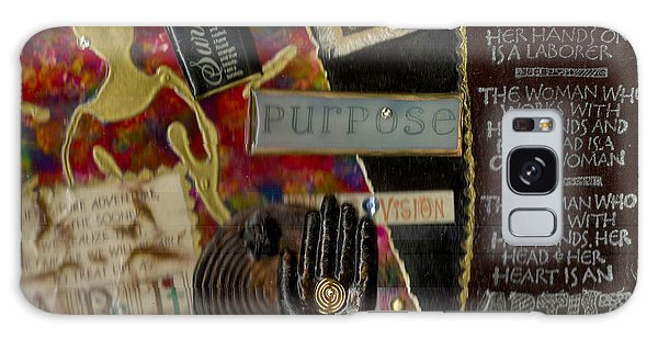 A Woman With Purpose Galaxy Case