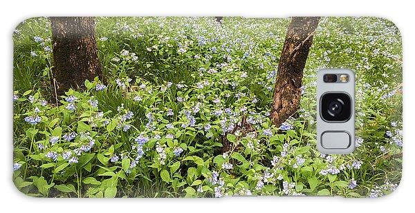 A Woodland Carpet Of Blue Galaxy Case