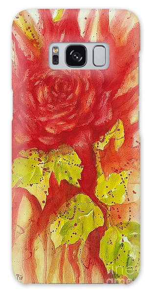 A Wounded Rose Galaxy Case by Kathleen Pio