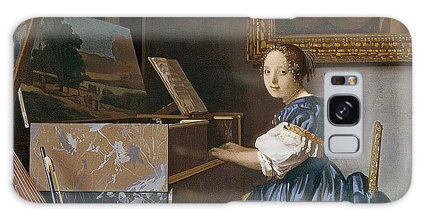 Vermeer Galaxy Case - A Young Lady Seated At A Virginal by Jan Vermeer