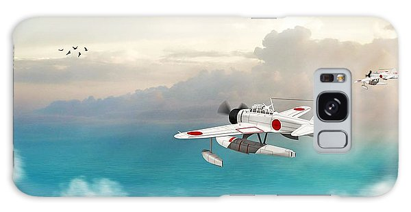 A6m2-n Sea Plane Galaxy Case by John Wills