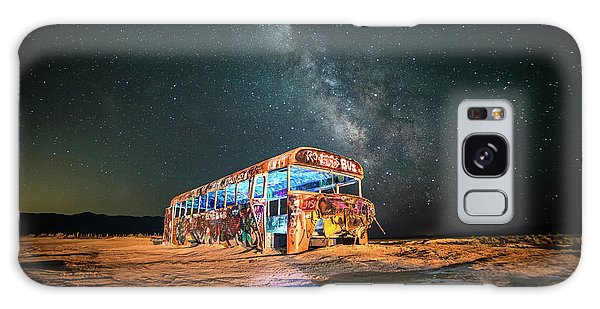 Abandoned Bus Under The Milky Way Galaxy Case