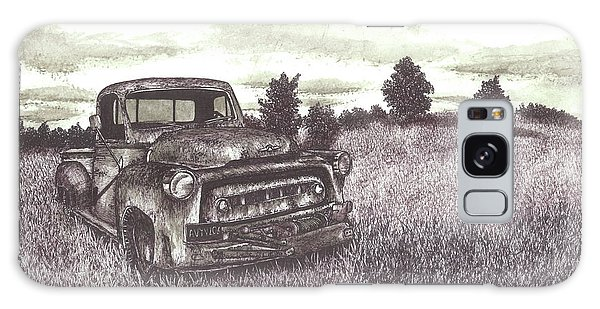 Old Truck Galaxy Case - Abandoned Truck At Sunset by Jonathan Baldock