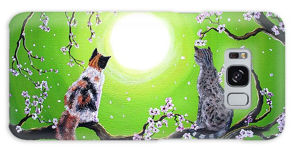 Calico Cat Galaxy Case - Abby And Caesar In The Spring by Laura Iverson