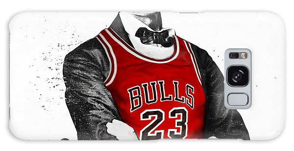 Abraham Lincoln Galaxy Case - Abe Lincoln In A Michael Jordan Chicago Bulls Jersey by Rolyo
