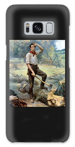 Abraham Lincoln Galaxy Case - Abe Lincoln The Rail Splitter  by War Is Hell Store