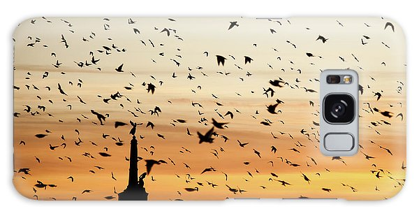 Aberystwyth Starlings At Dusk Flying Over The War Memorial Galaxy Case