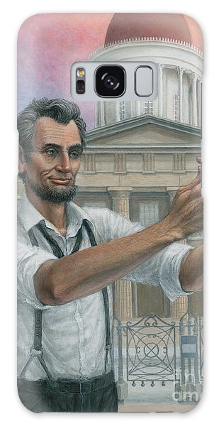 Abe's 1st Selfie Galaxy Case by Jane Bucci