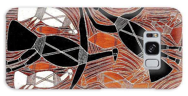 Aboriginal Birds Galaxy Case