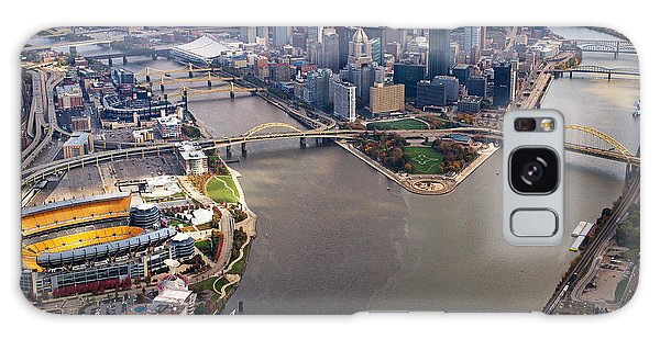 Above Pittsburgh In  Color  Galaxy Case