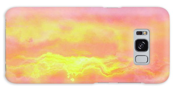 Above The Clouds - Abstract Art Galaxy Case by Jaison Cianelli
