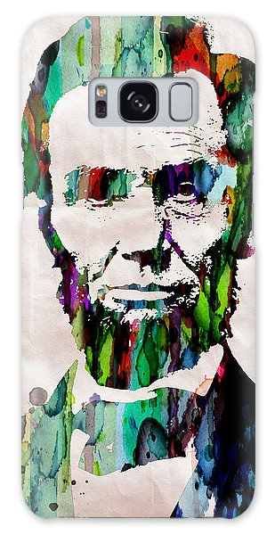 Abraham Lincoln Art Watercolor Galaxy Case