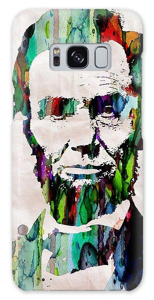 Abraham Lincoln Art Watercolor Galaxy Case